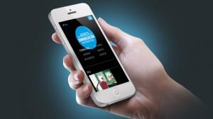 Web de Agoranet adaptado a un móvil mediante Responsive Design