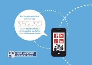 Imagen de parte de la portada del manual de recomendaciones para un uso de las redes sociales y los dispositivos móviles de forma segura