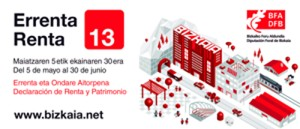 Imagen de la creatividad horizontal de la campaña de la Renta y Patrimonio de BFA-DFB 2013