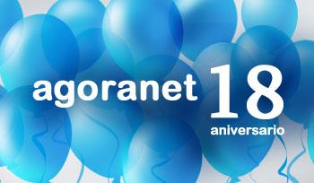 Agoranet cumple 18 años gracias a ti.